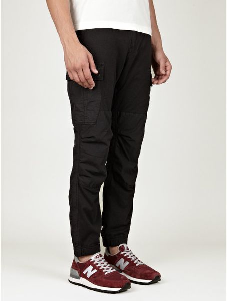 Stone Island Cargo Pants in Black for Men - Lyst