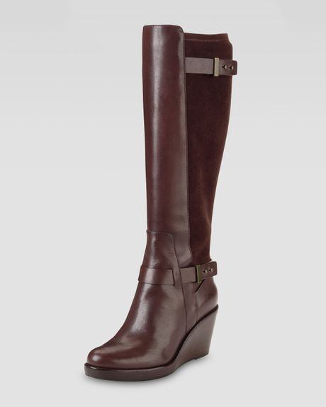 cole haan fulton wedge boot chestnut in brown chestnut