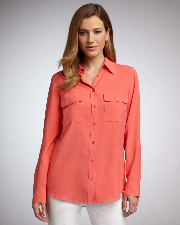 589d3d664e519 Womens Red Silk Blouses