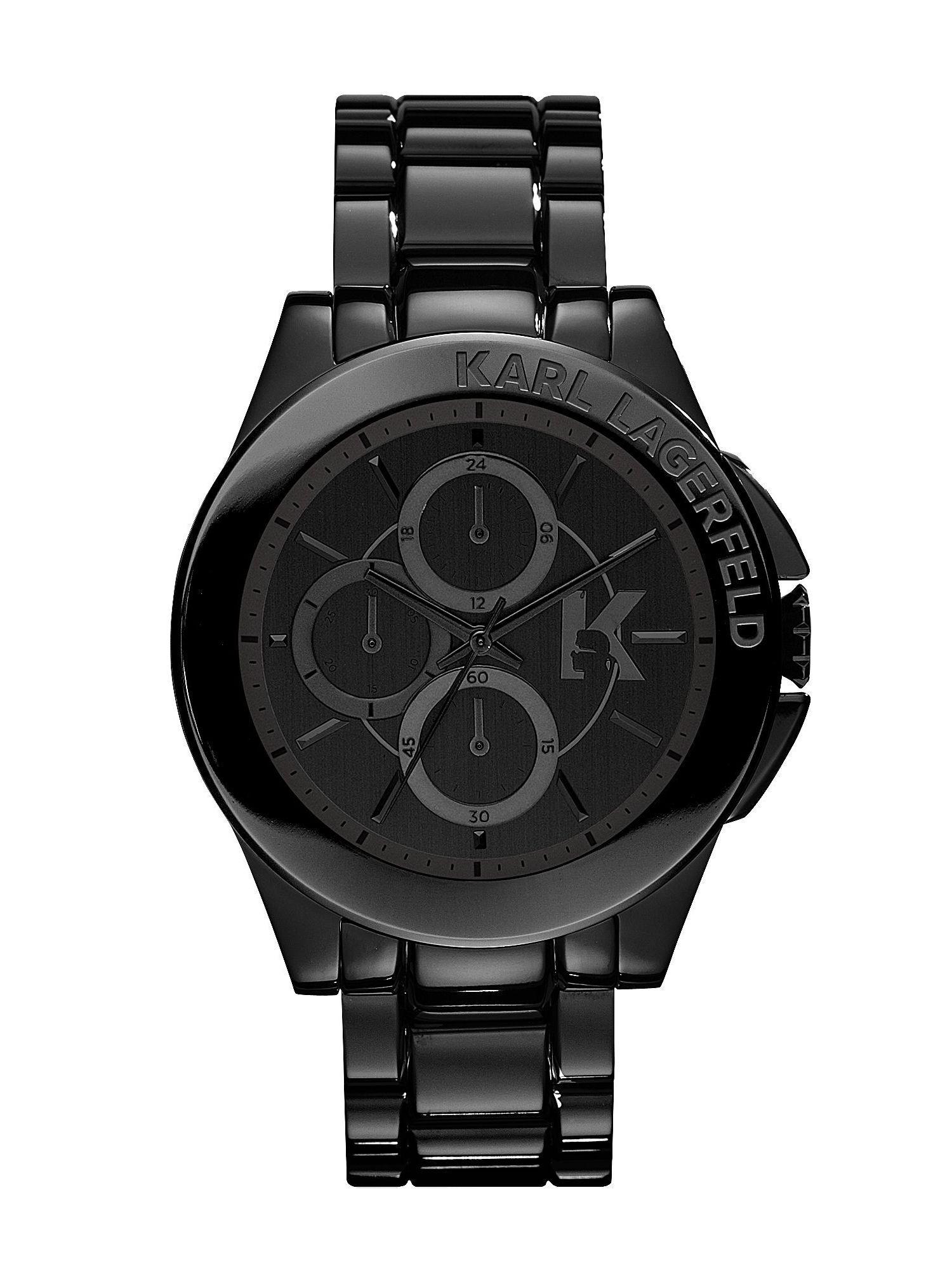 karl lagerfeld kl1401 energy black mens bracelet watch in black gallery