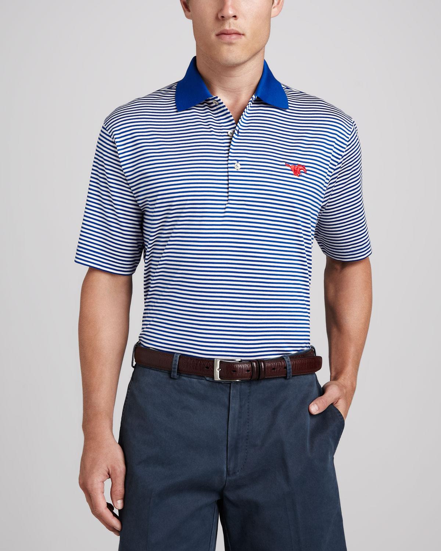 e9e75864b Peter Millar Smu Mustangs Gameday College Shirt Polo in Blue for Men ...