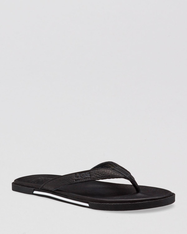 ugg australia men's bennison leather flip flops