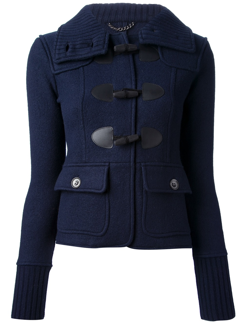 Burberry brit Short Duffle Coat in Blue | Lyst