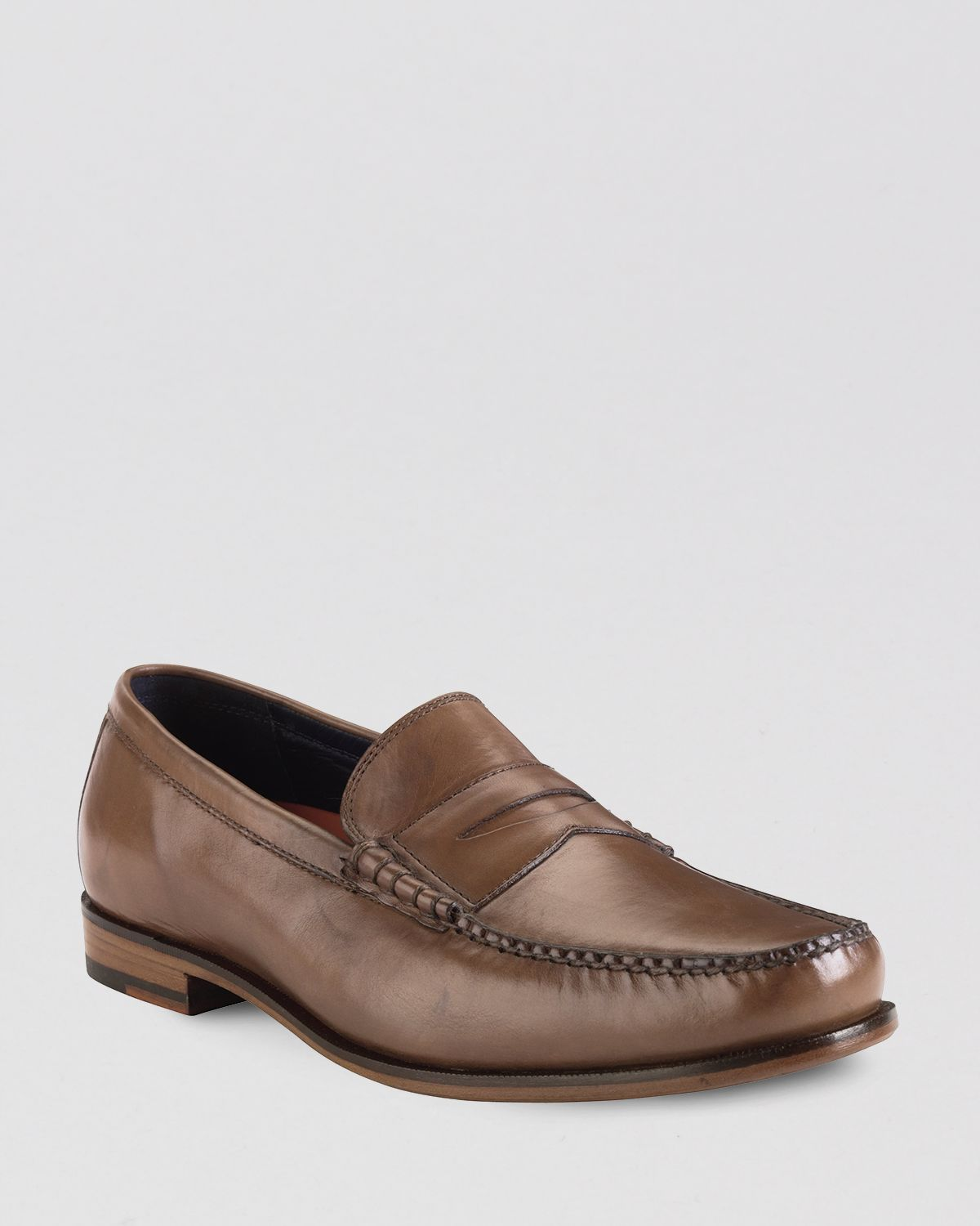 Lyst - Cole Haan Hudson Leather Penny Loafers in Brown for Men