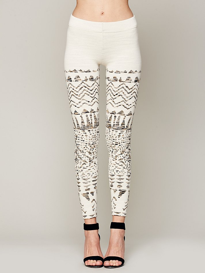 045d5a4d03ab9a Free People Winter Story Sweater Legging in White - Lyst