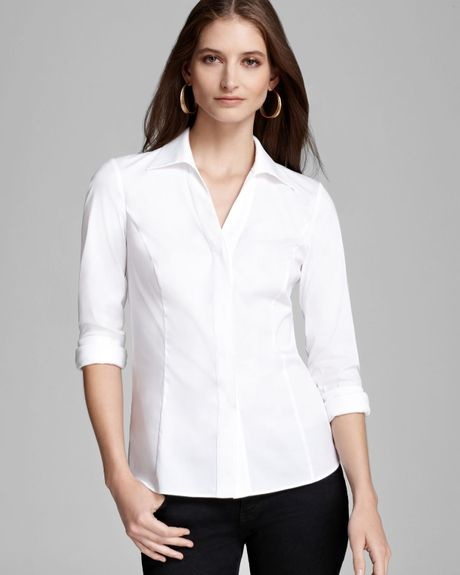 Original Women39S White Blouse With French Cuffs  Hot Black Blouse
