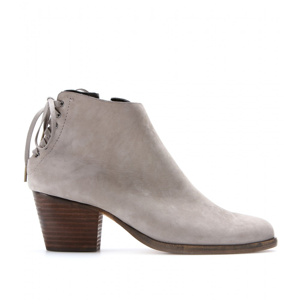 Rag Amp Bone Bannon Suede Ankle Boots In Gray Lyst