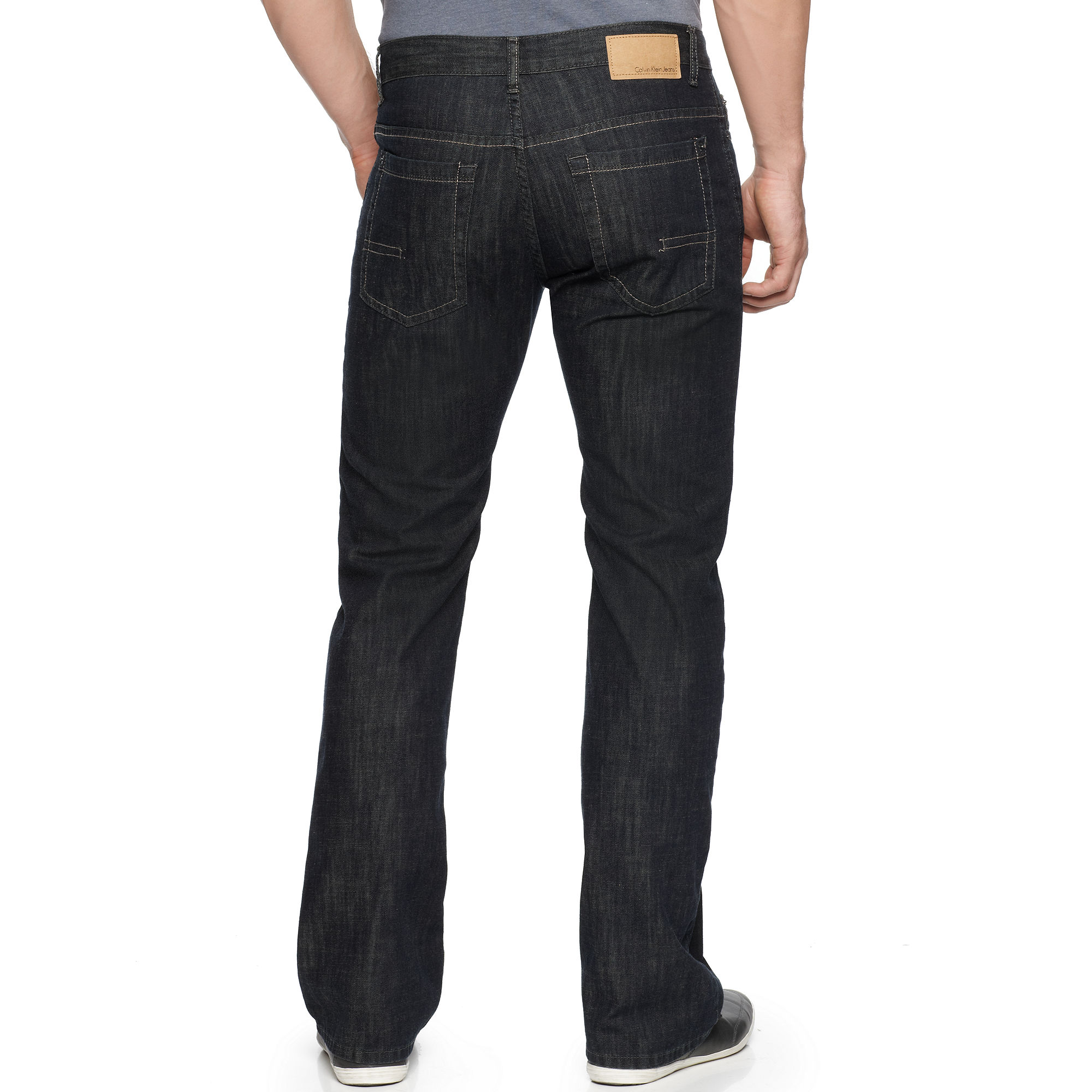 Calvin klein jeans Deep Centre Boot Cut Jeans in Blue for Men | Lyst