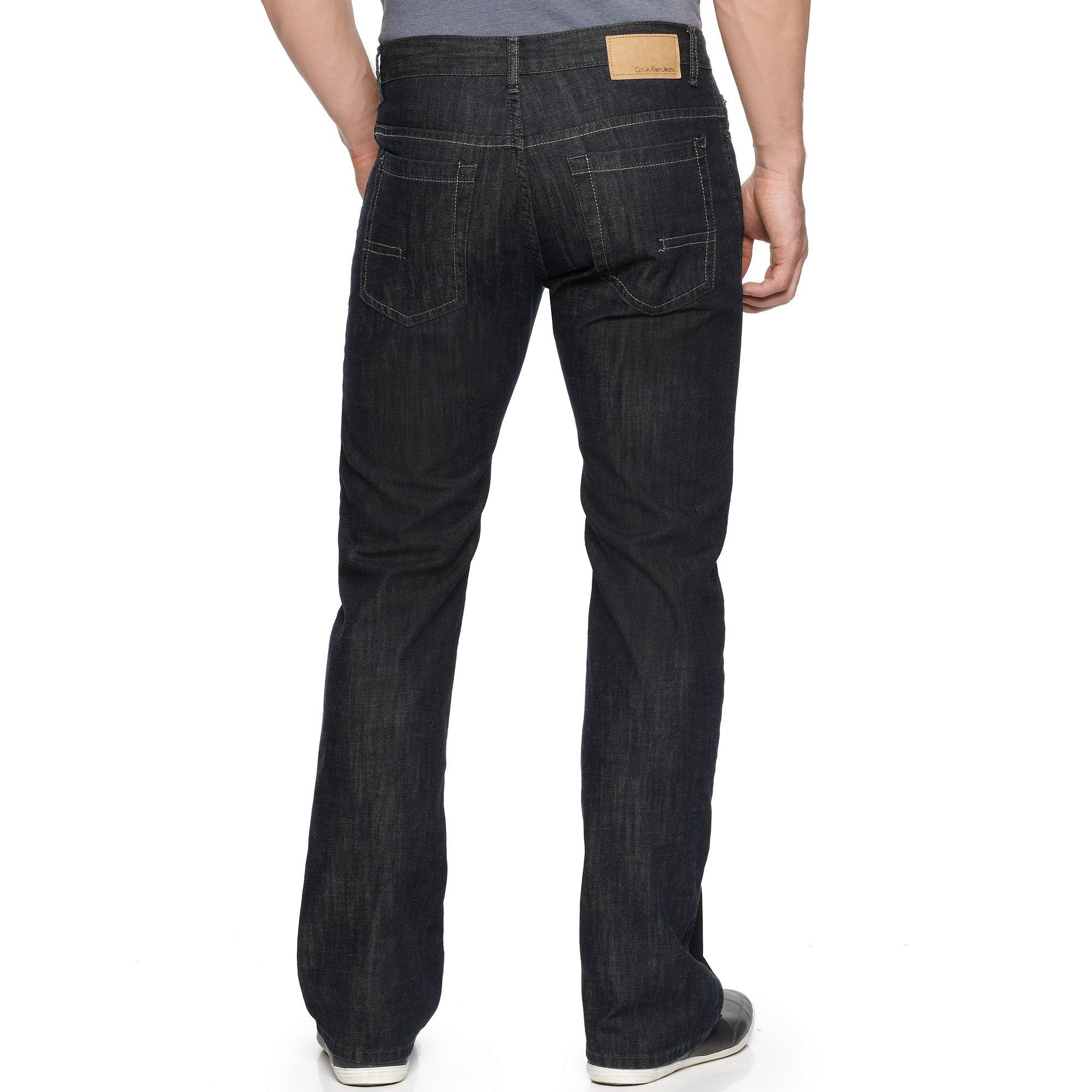 mens dark wash bootcut jeans - Jean Yu Beauty