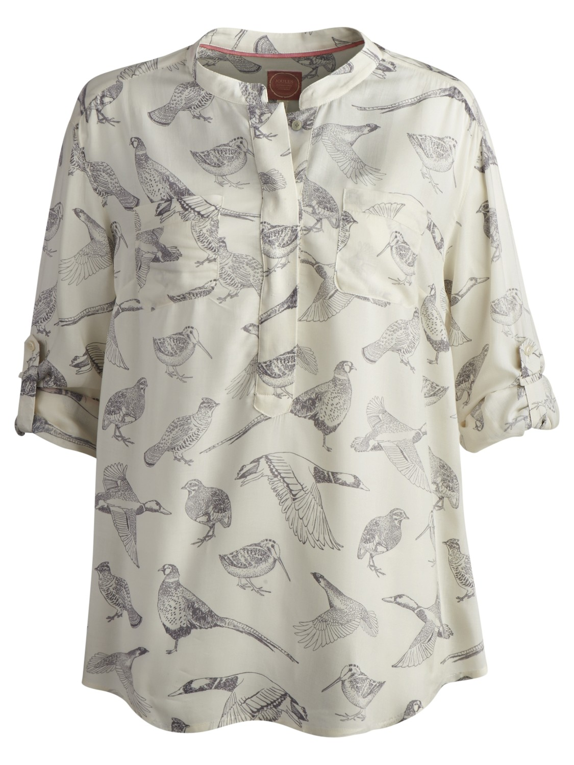 Joules Rosamond Bird Print Blouse In Natural Lyst
