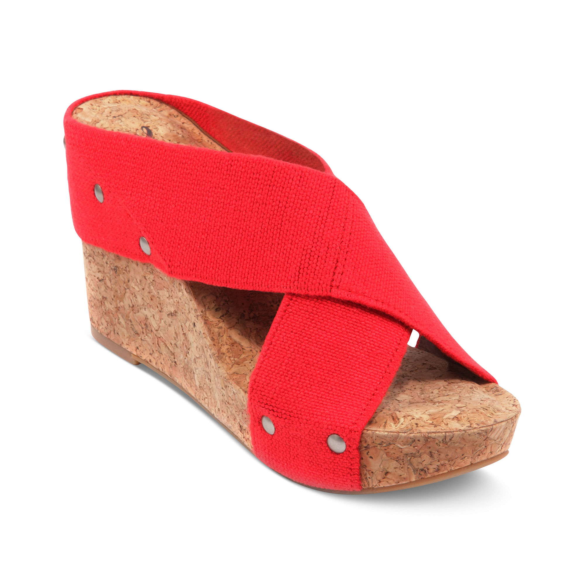 lucky brand miller2 wedge sandals in snake combo lyst