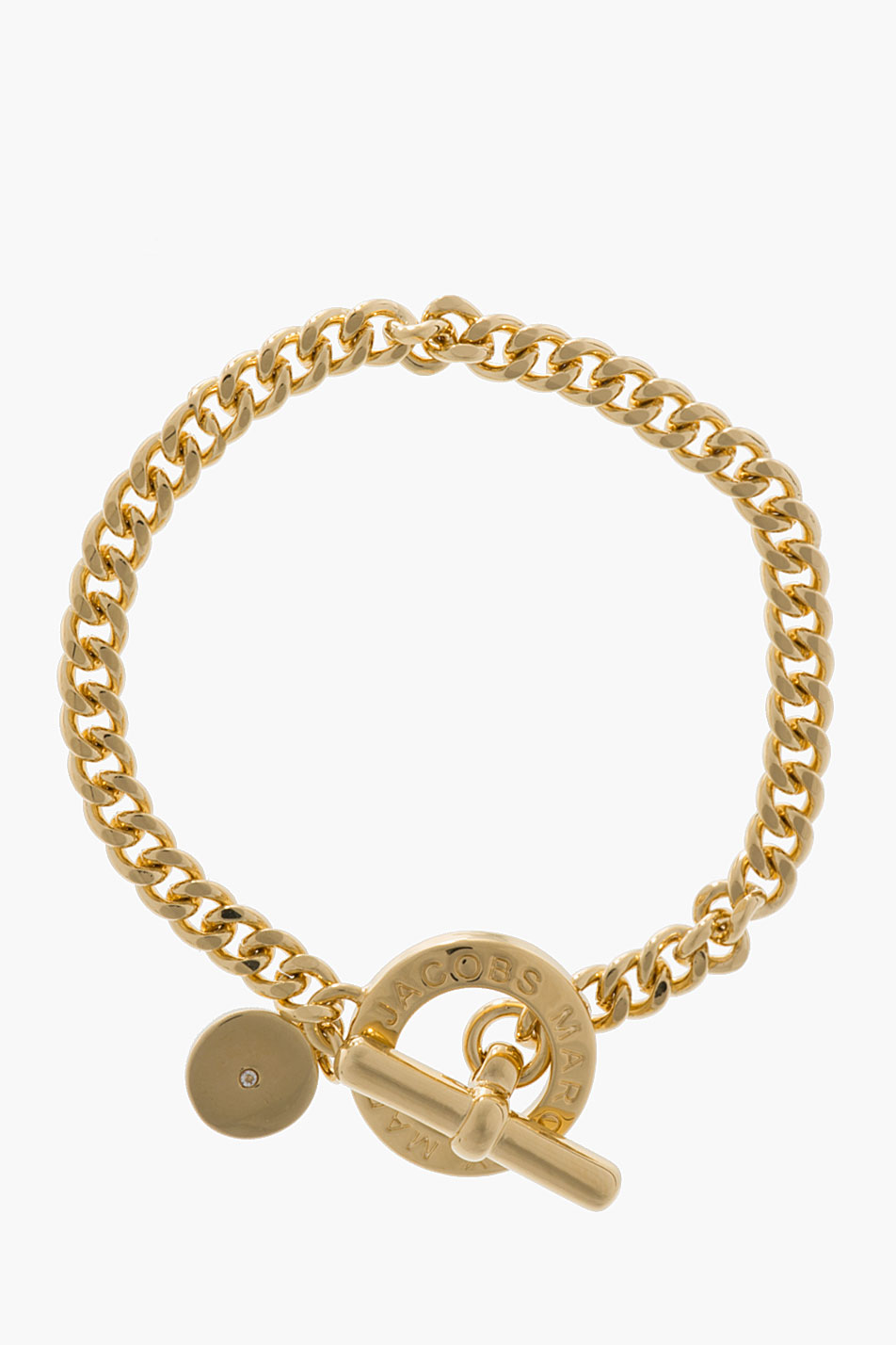 Marc By Marc Jacobs Gold Mini Toggle Bracelet In Metallic