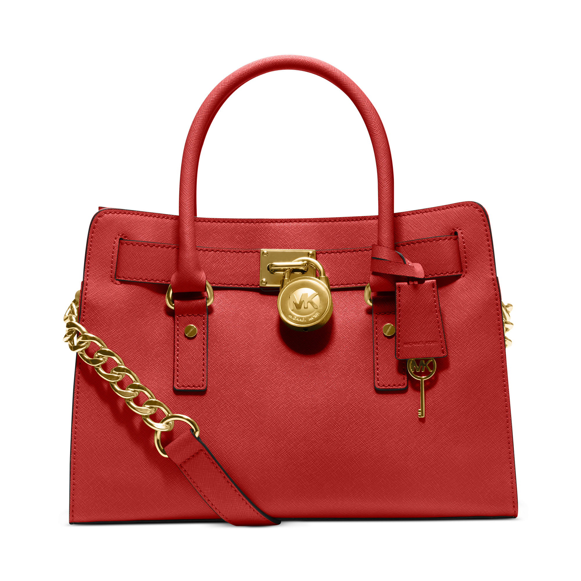 michael kors hamilton saffiano leather ew satchel in red. Black Bedroom Furniture Sets. Home Design Ideas