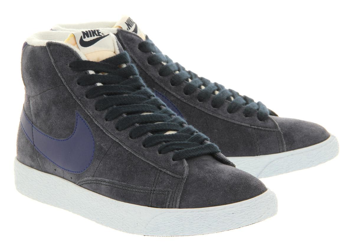 Nike Blazer Hi Suede Vintage Obsidian Deep Royal Blue In Blue For Men | Lyst