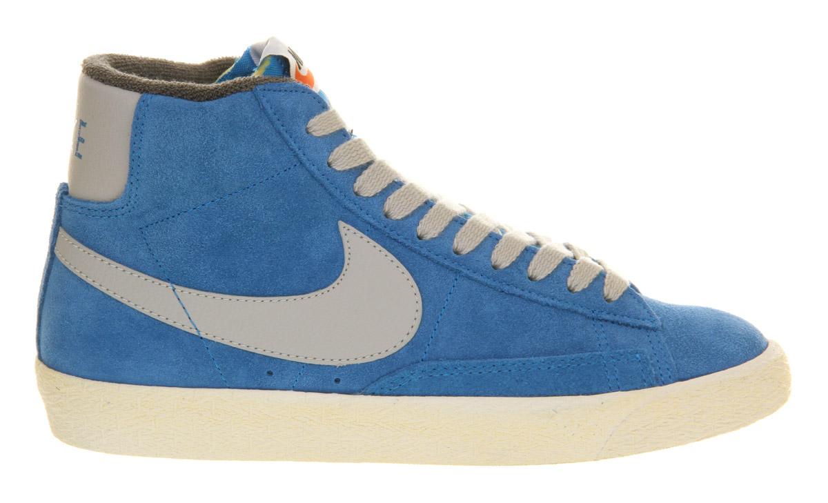 nike blazer high suede vintage blue