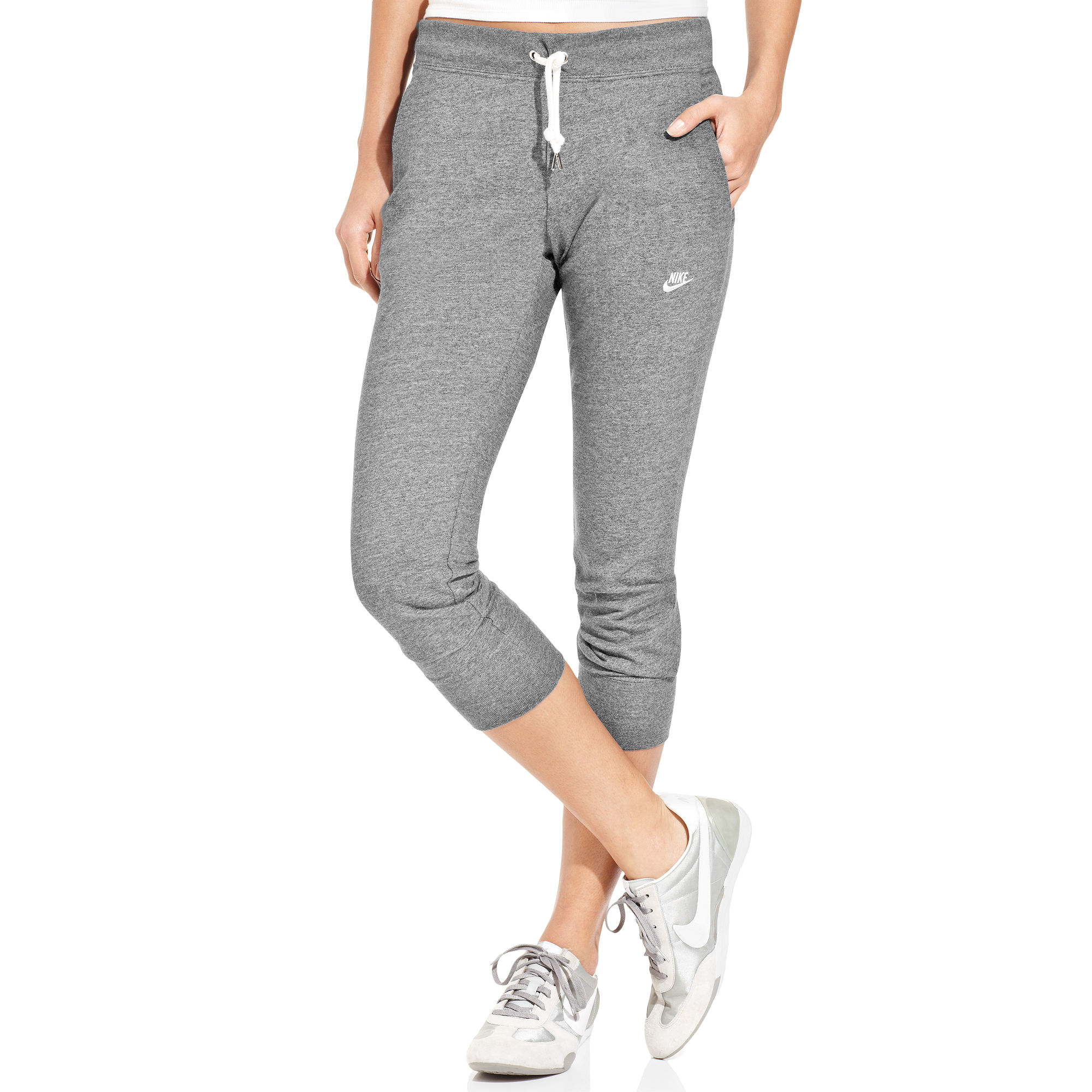 6867803e3336 Lyst - Nike Time Out Capri Sweatpants in Gray