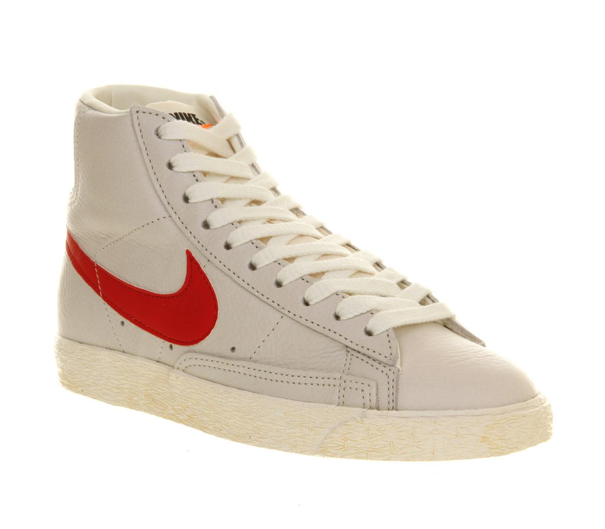 Vintage Mid Century Modern Desk Price Reduced: Nike Blazer Mid Vintage Leather Sail Red In White