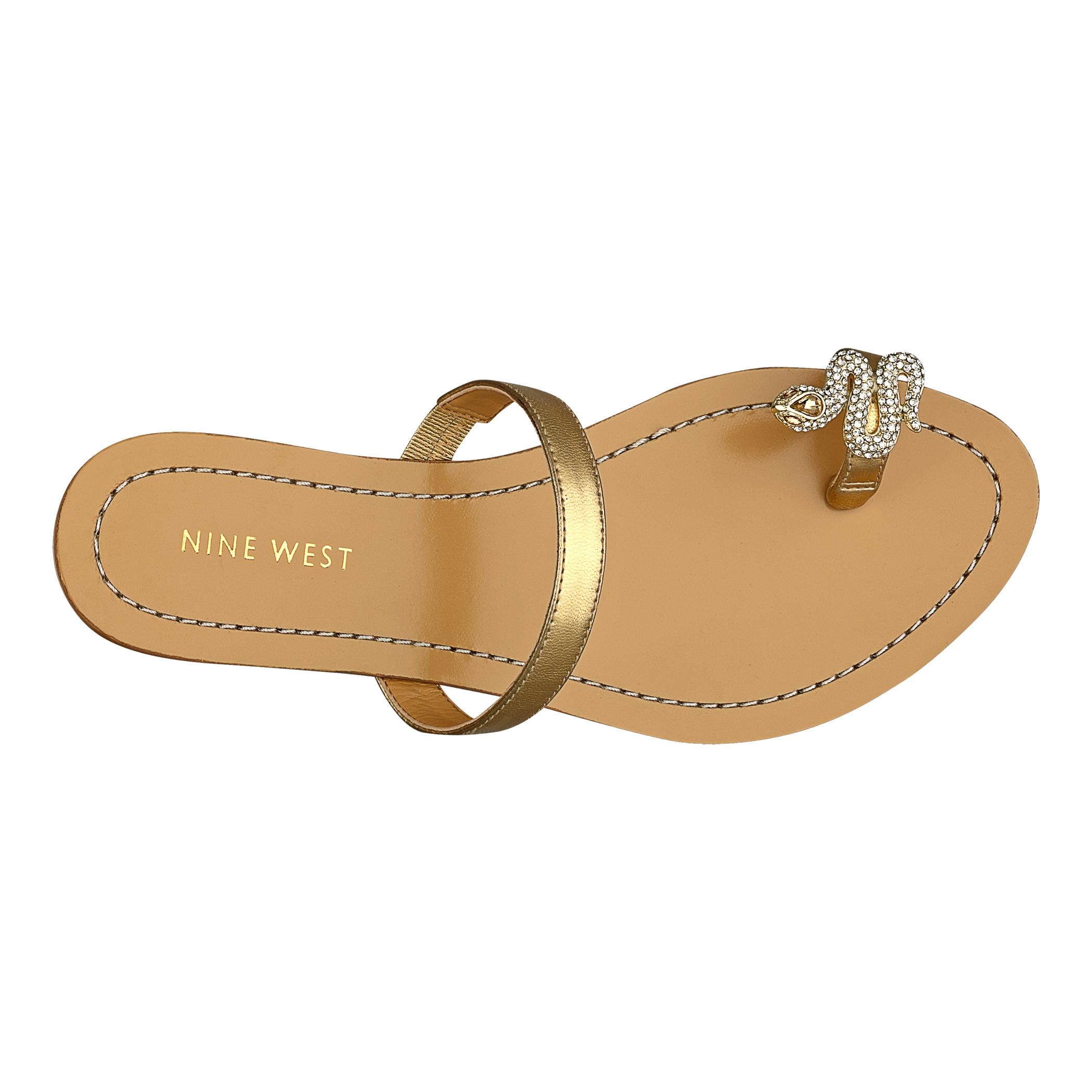 Lyst Nine West Sunset Sandals In Metallic