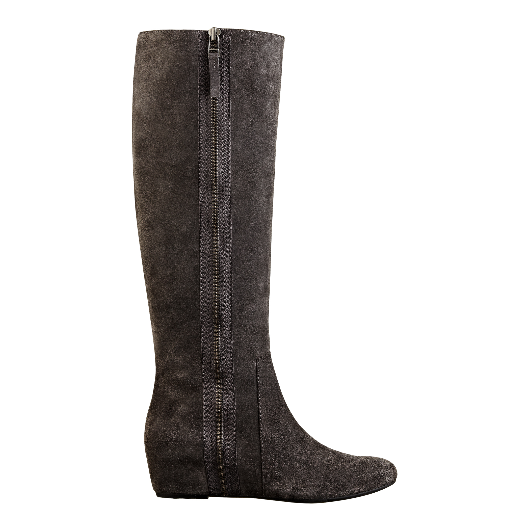 nine west maleficent boot in gray grey suede lyst