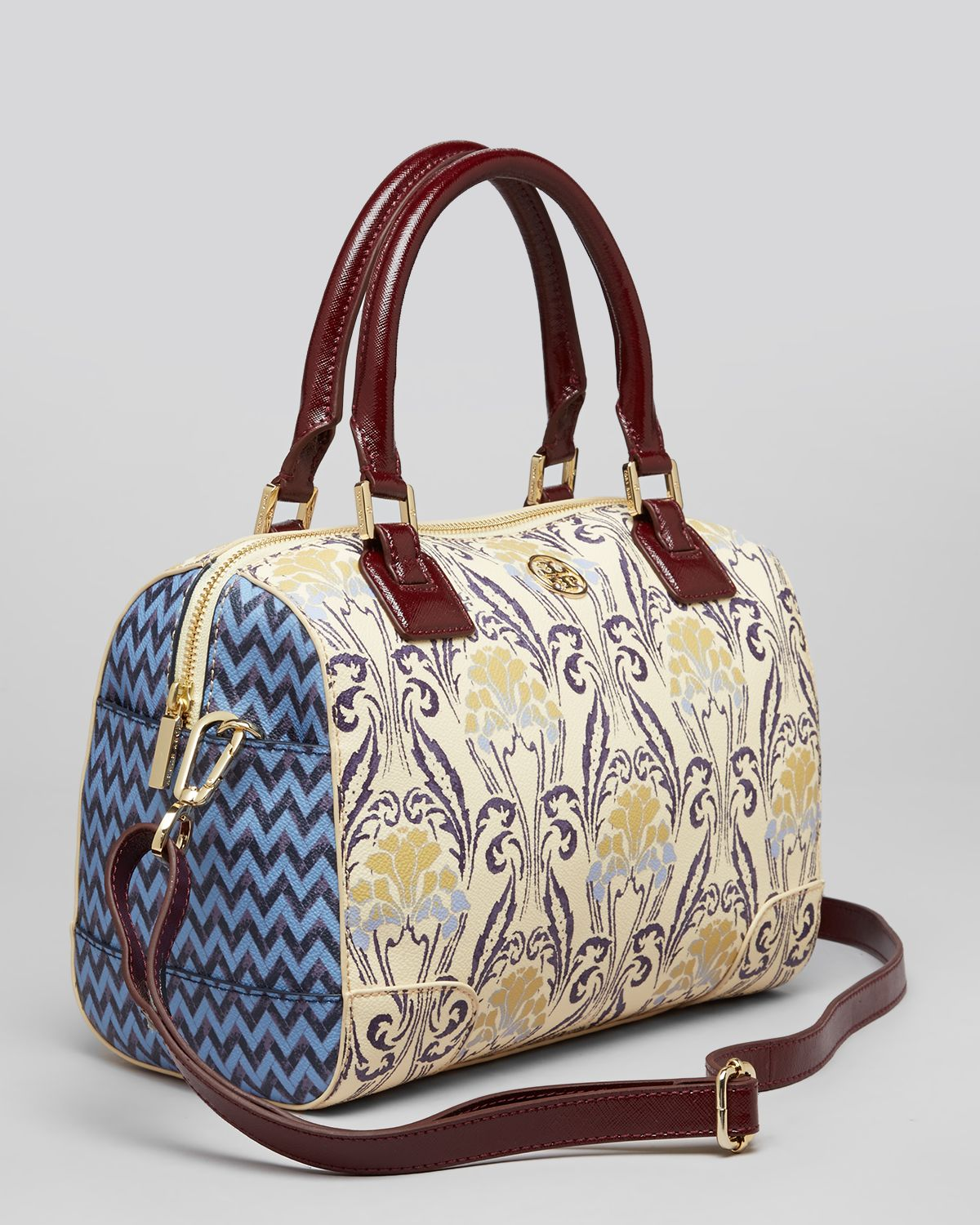 Tory burch Satchel Robinson Printed in White  Lyst