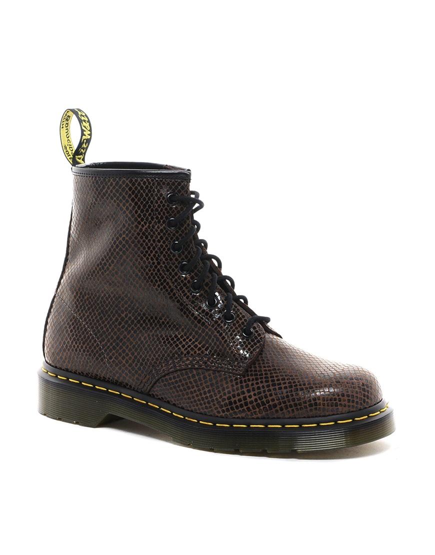 dr martens original 8eye boots in black for men brown lyst. Black Bedroom Furniture Sets. Home Design Ideas