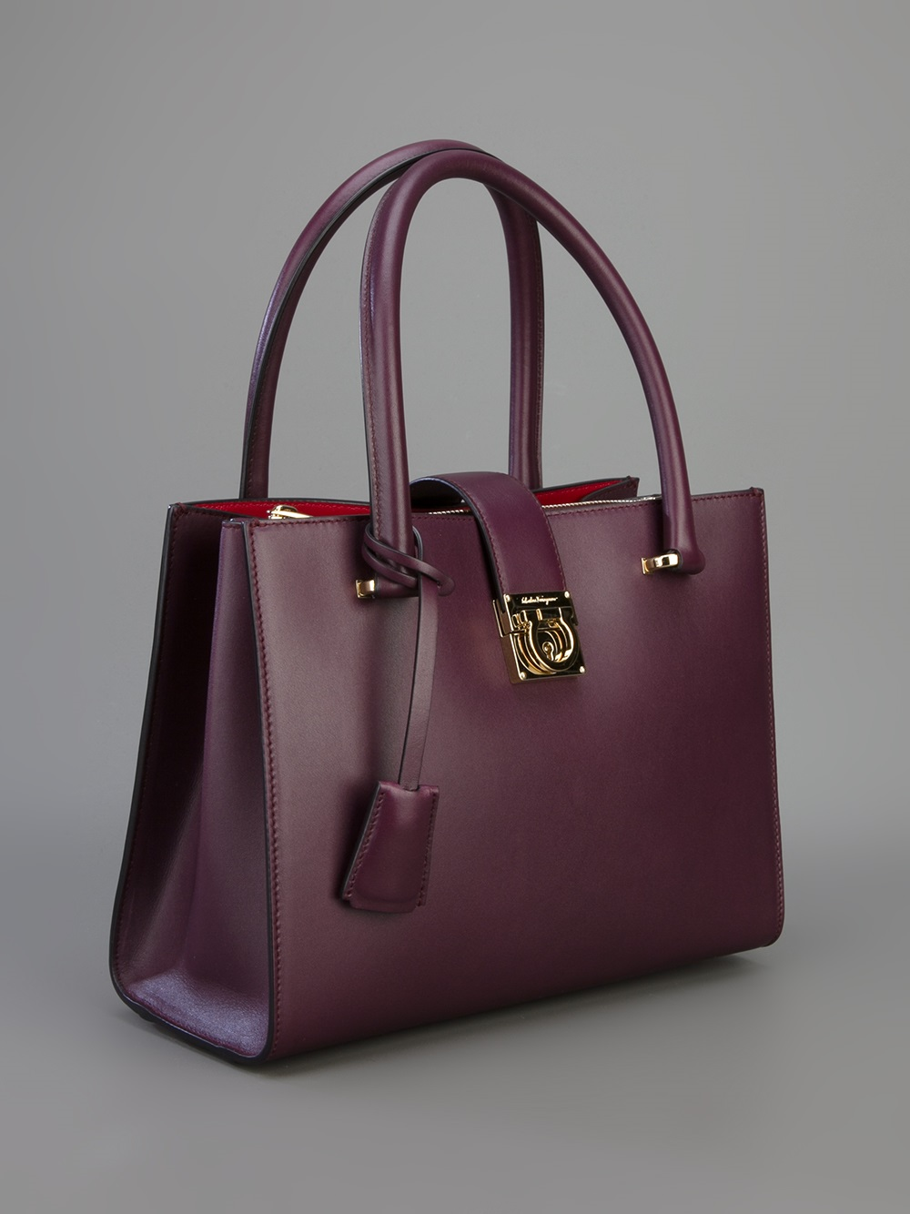 10e636d08c31 Lyst - Ferragamo Juliette Tote in Purple