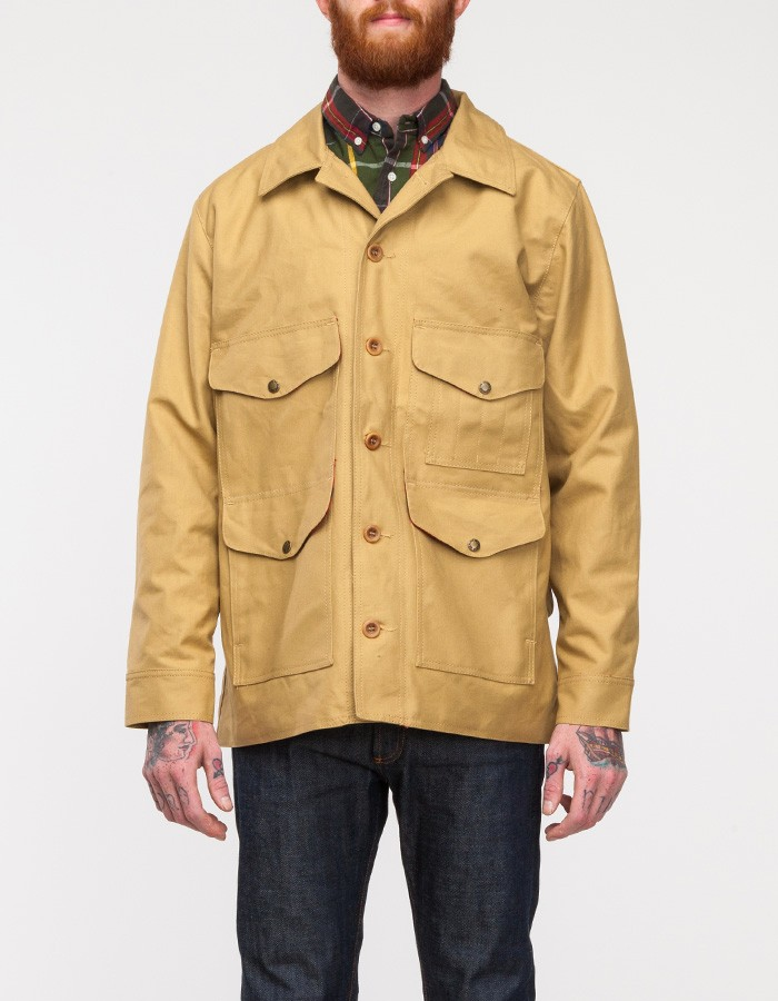 lyst filson tin cloth lined guide cruiser in yellow for men