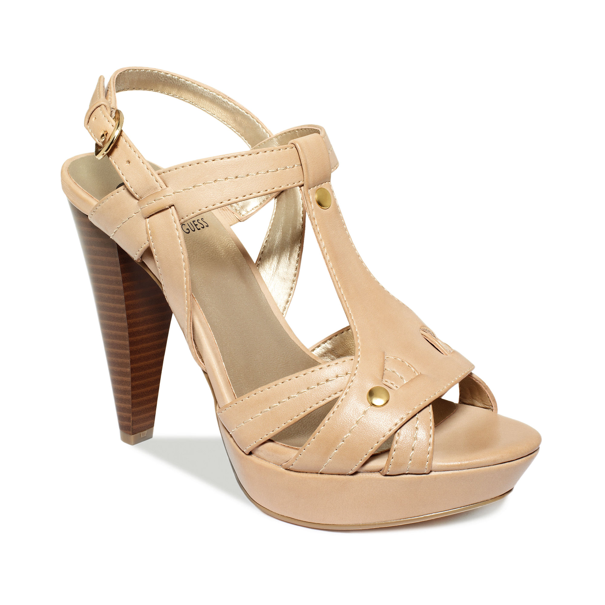 g by guess platform sandals in brown lyst