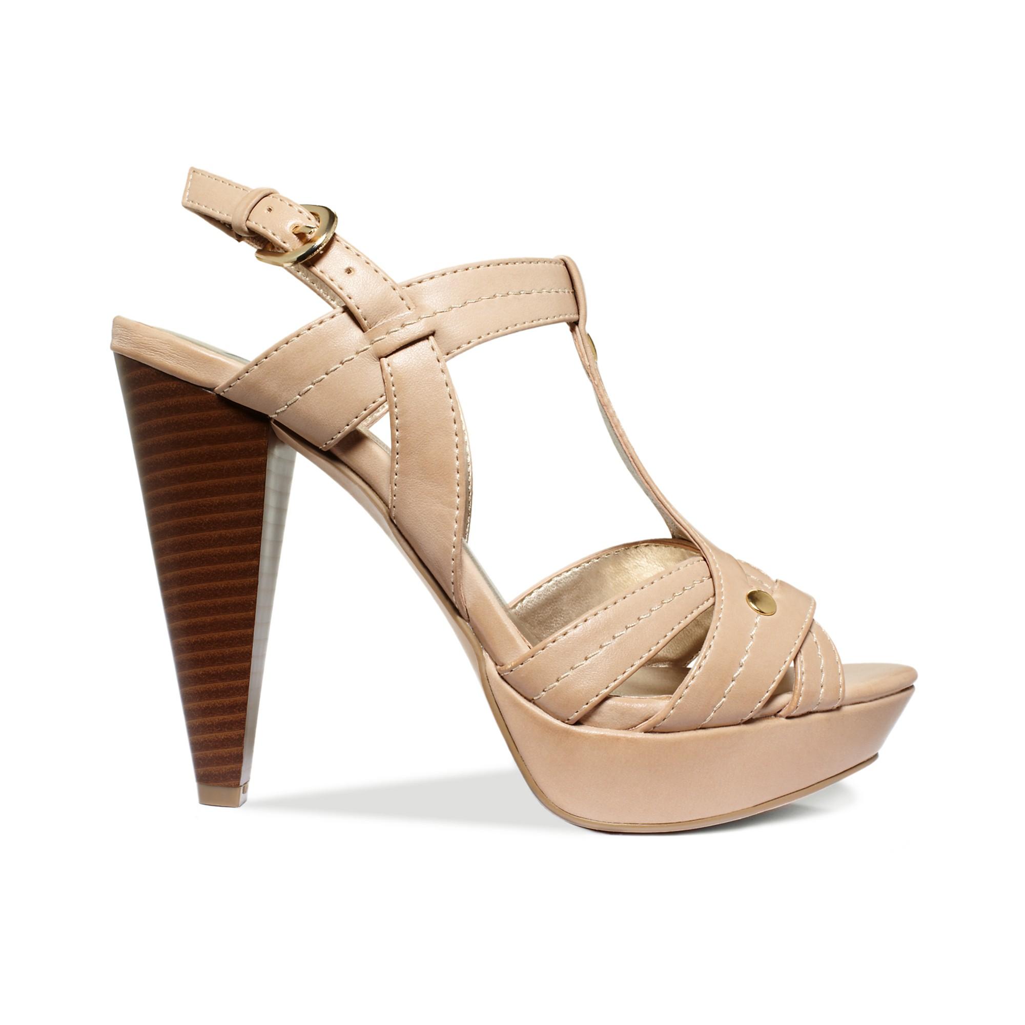 7e7a406182e G by Guess Brown Heather Platform Sandals
