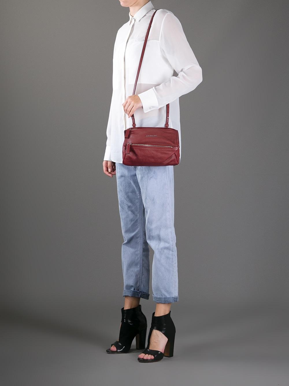 Lyst - Givenchy Mini Pandora Shoulder Bag in Purple 3425677fef44d