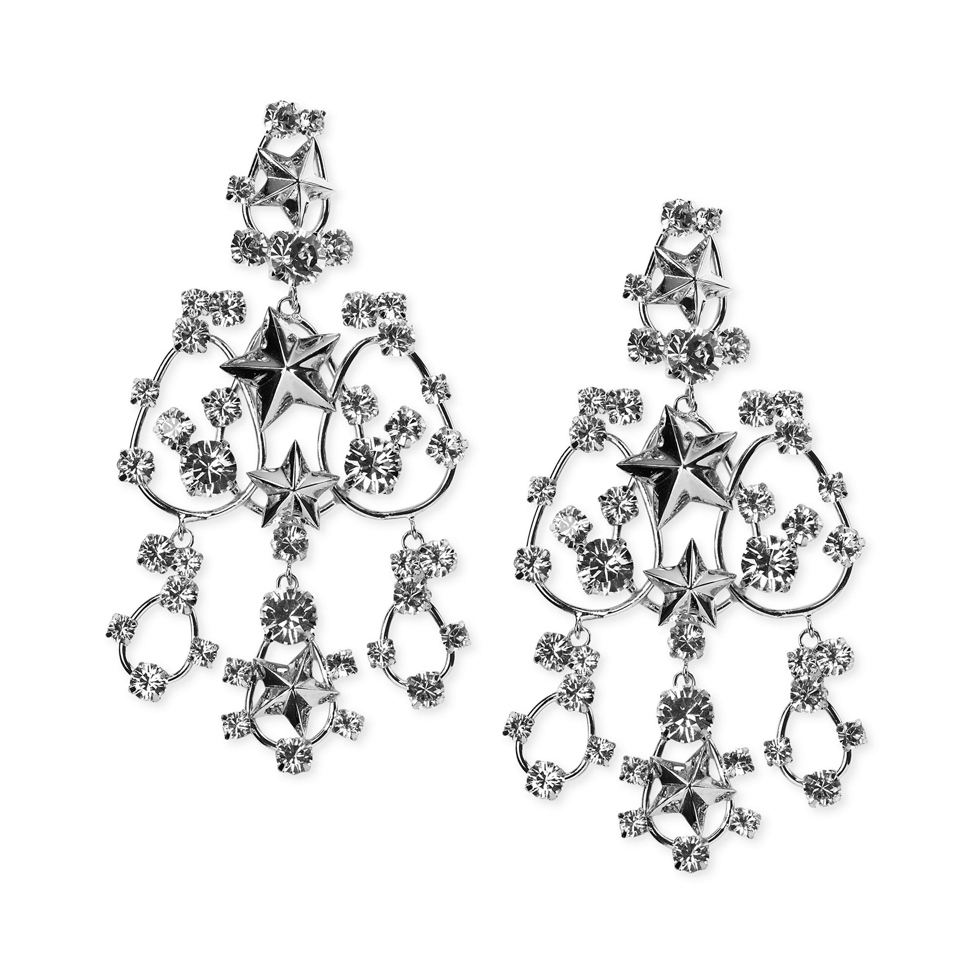 Red Givenchy Chandelier Earrings: Givenchy Star Pendant Swarovski Element Chandelier