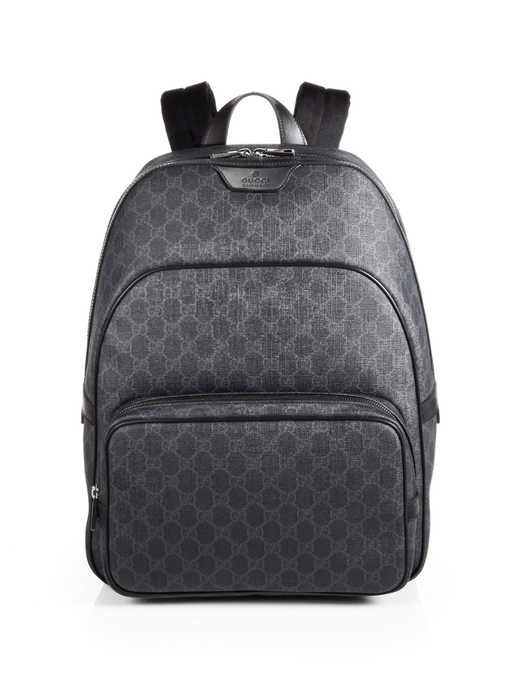 Lyst Gucci Gg Backpack In Black For Men
