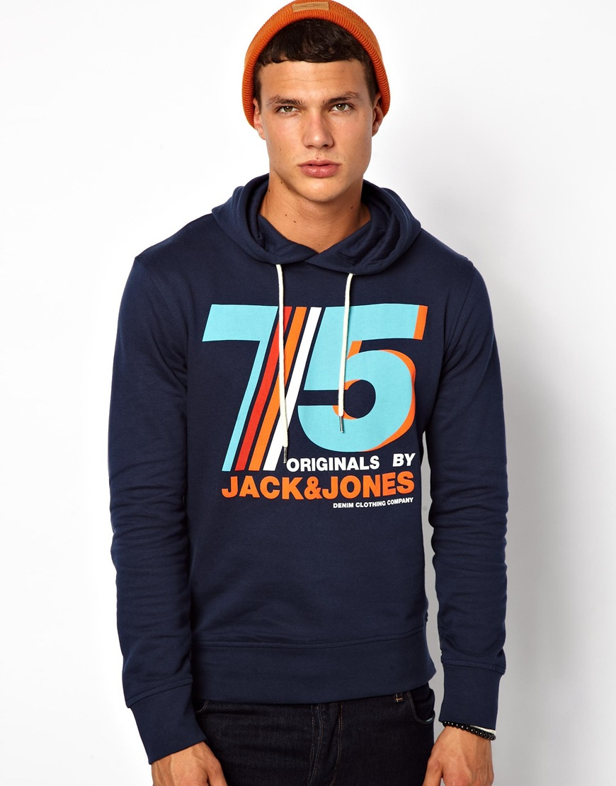 classic shoes detailed images outlet for sale Jack Jones Hoodie with 75 Logo