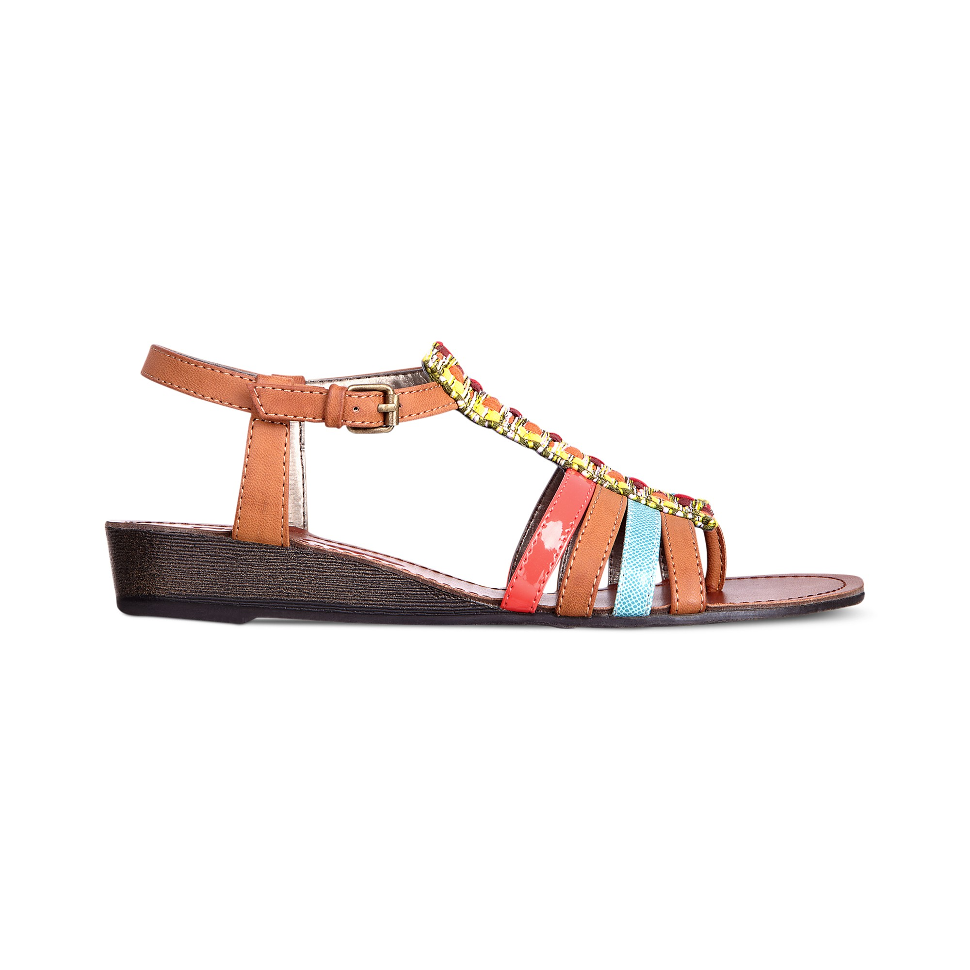 Pink And Pepper Mallorca Demi Wedge Sandals In Black Lyst