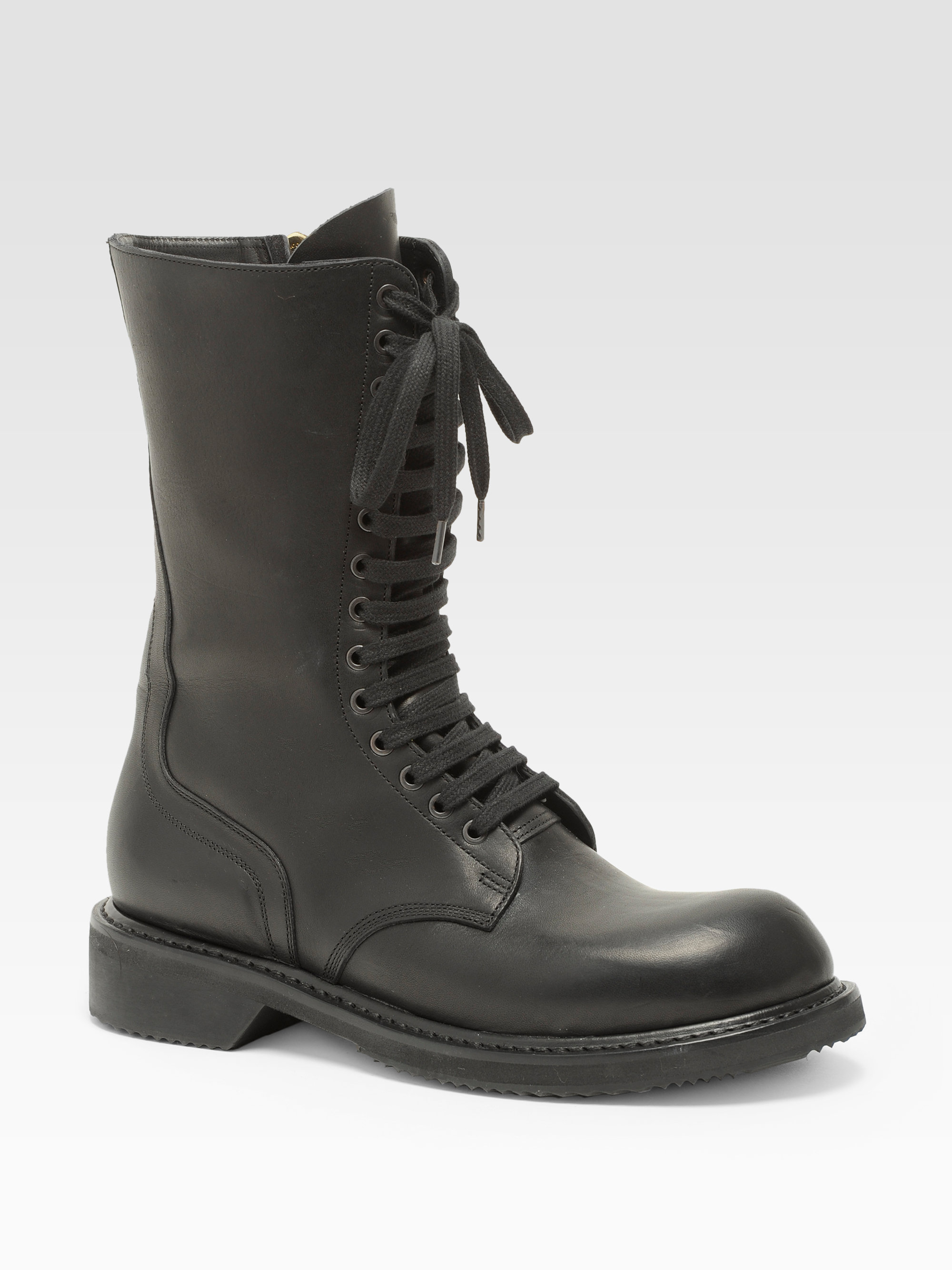 Rick Owens Army Combat Boots In Black Lyst