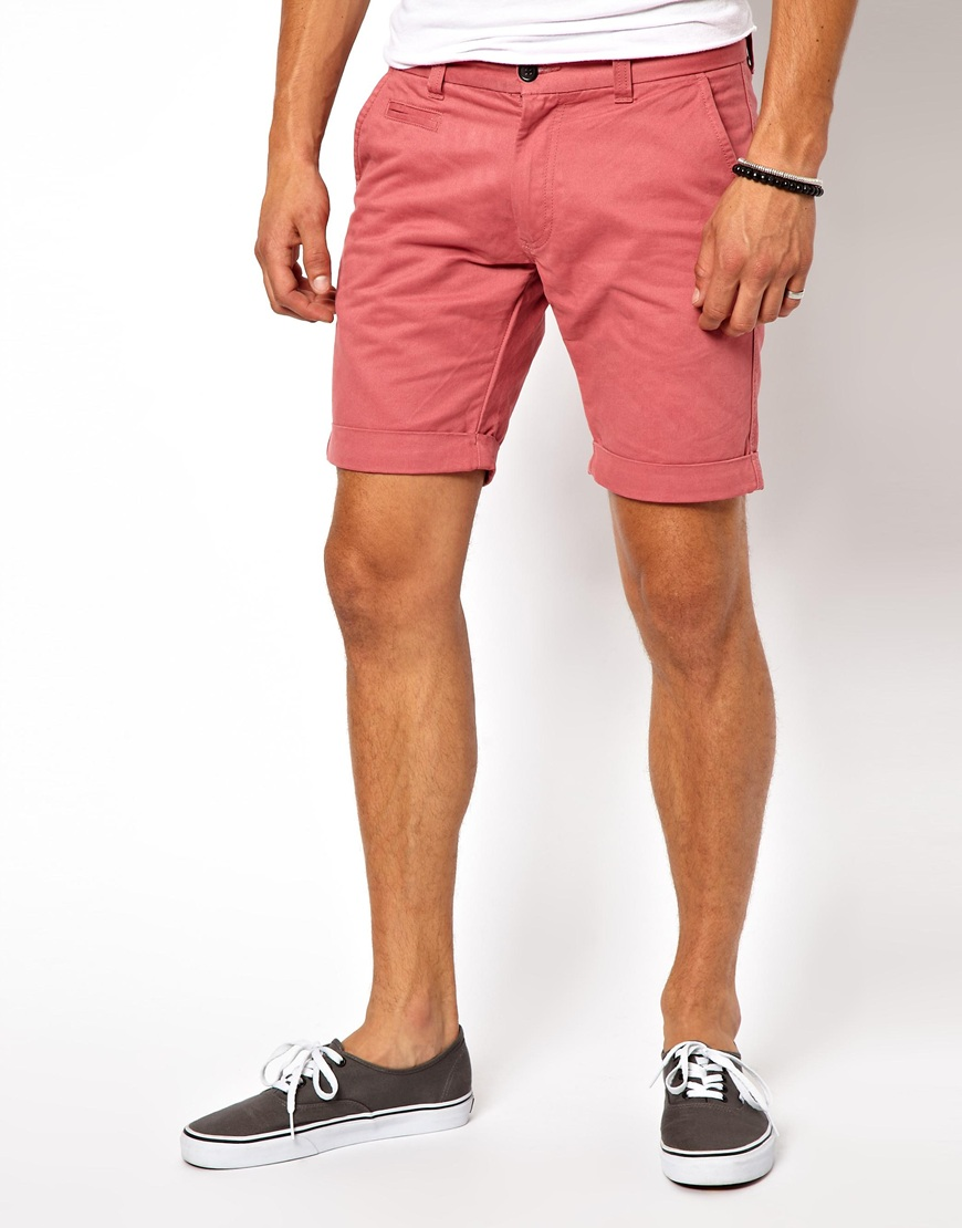 Mouille Selected Chino Shorts In Pink For Men Lyst