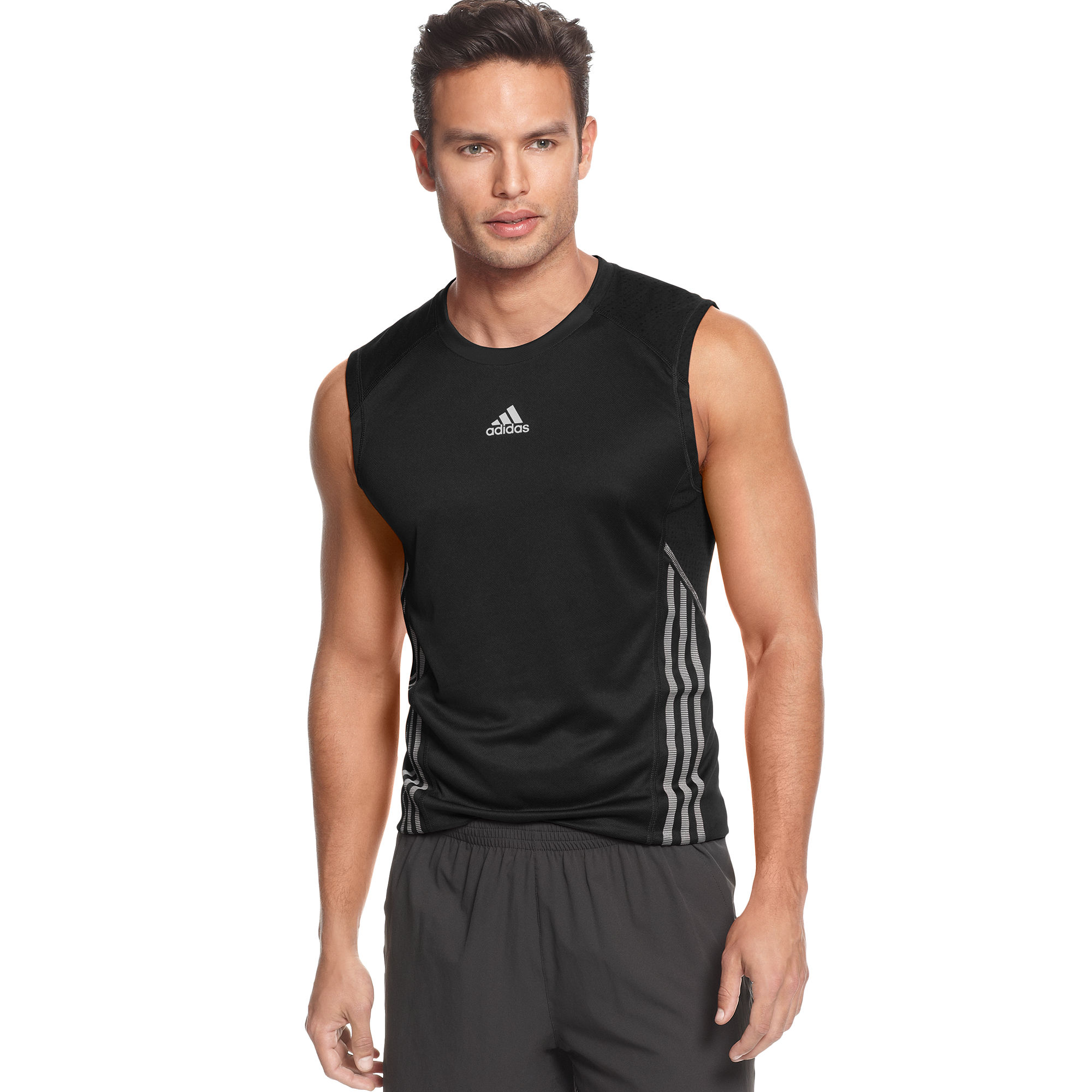Supernova Sleeveless Adidas Black Men Running Climalite For Tee EIHD92