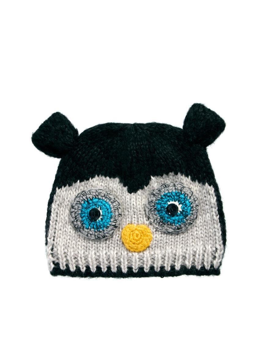 fe33b2de5db Lyst - ASOS Owl Beanie in Orange