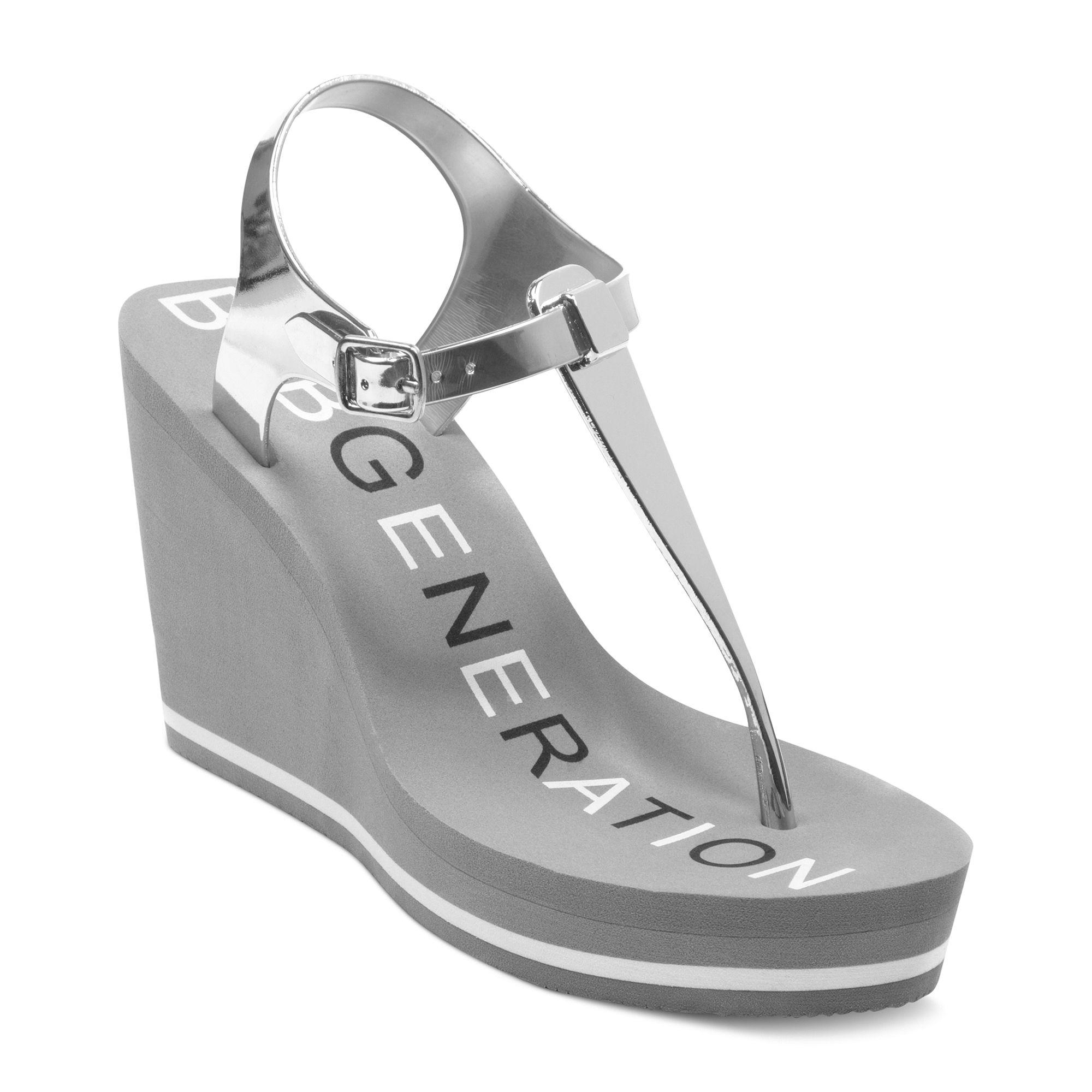 Lyst - BCBGeneration Harriet Jelly Platform Wedge Sandals in Metallic