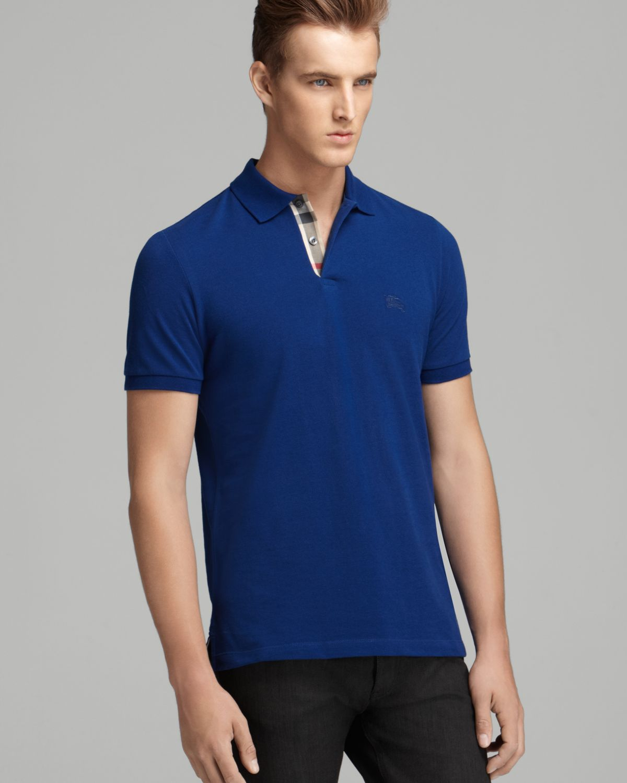 f1174b4a845a Lyst - Burberry Brit Longsleeve Slim Polo in Blue for Men