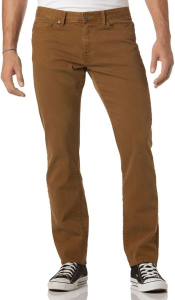 Calvin Klein Jeans Slim Straight Color Wash Jeans in Brown for Men (Tawny Port) | Lyst