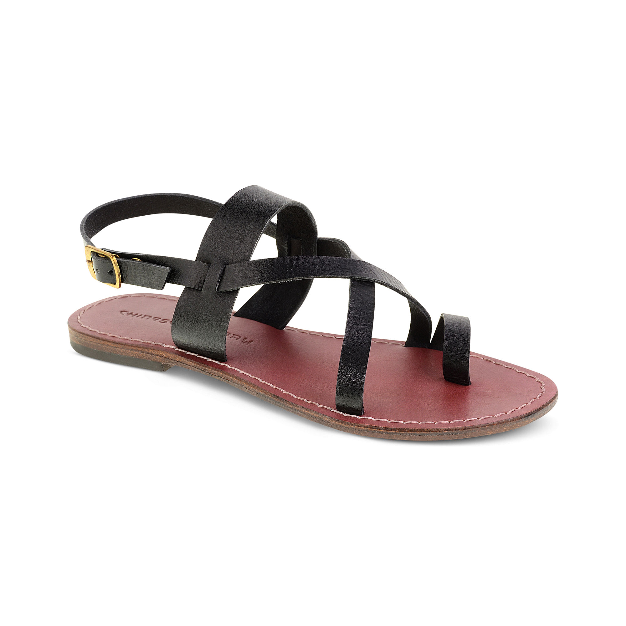 Lyst Chinese Laundry All True Toe Flat Sandals In Black