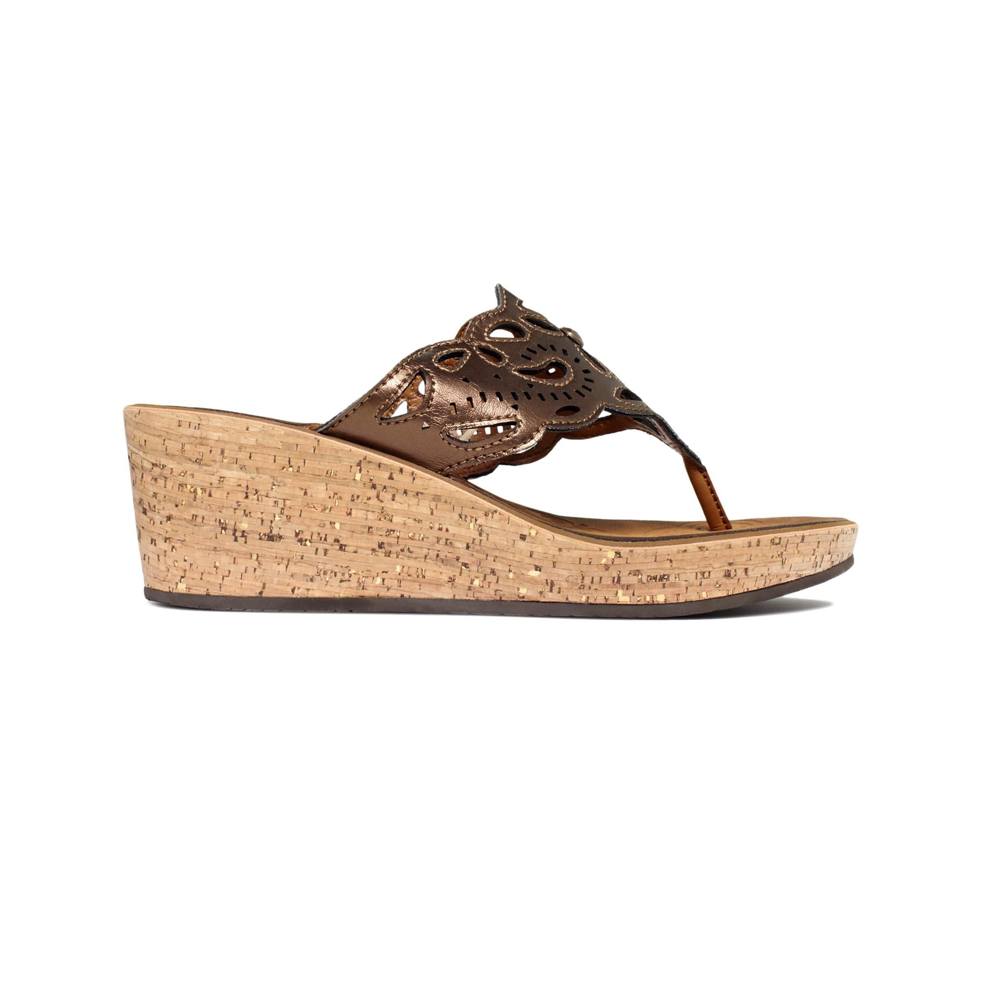 clarks mimmey platform wedge sandals in brown