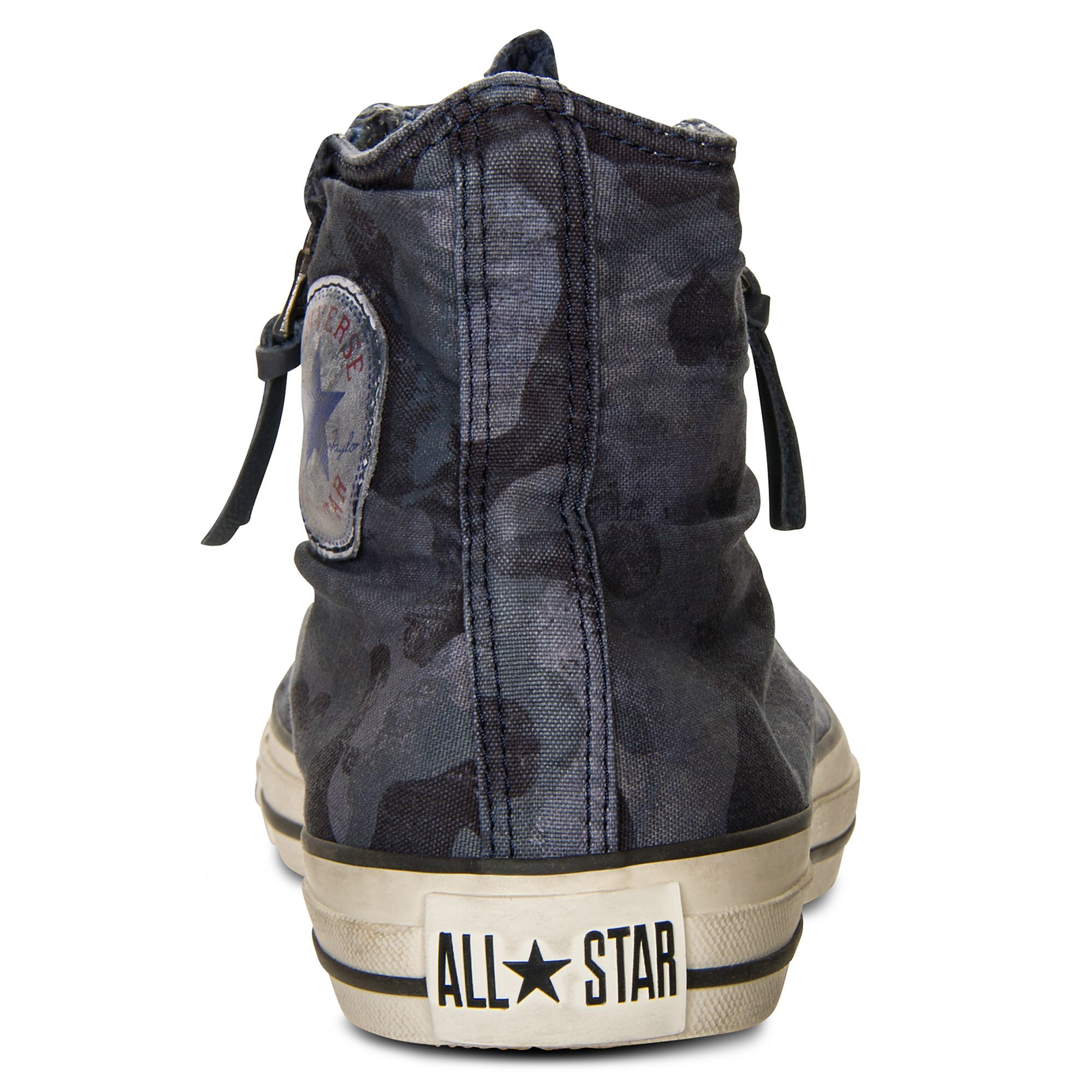Converse Jv Leather Double Zip High Sneakers In Ombre Blue