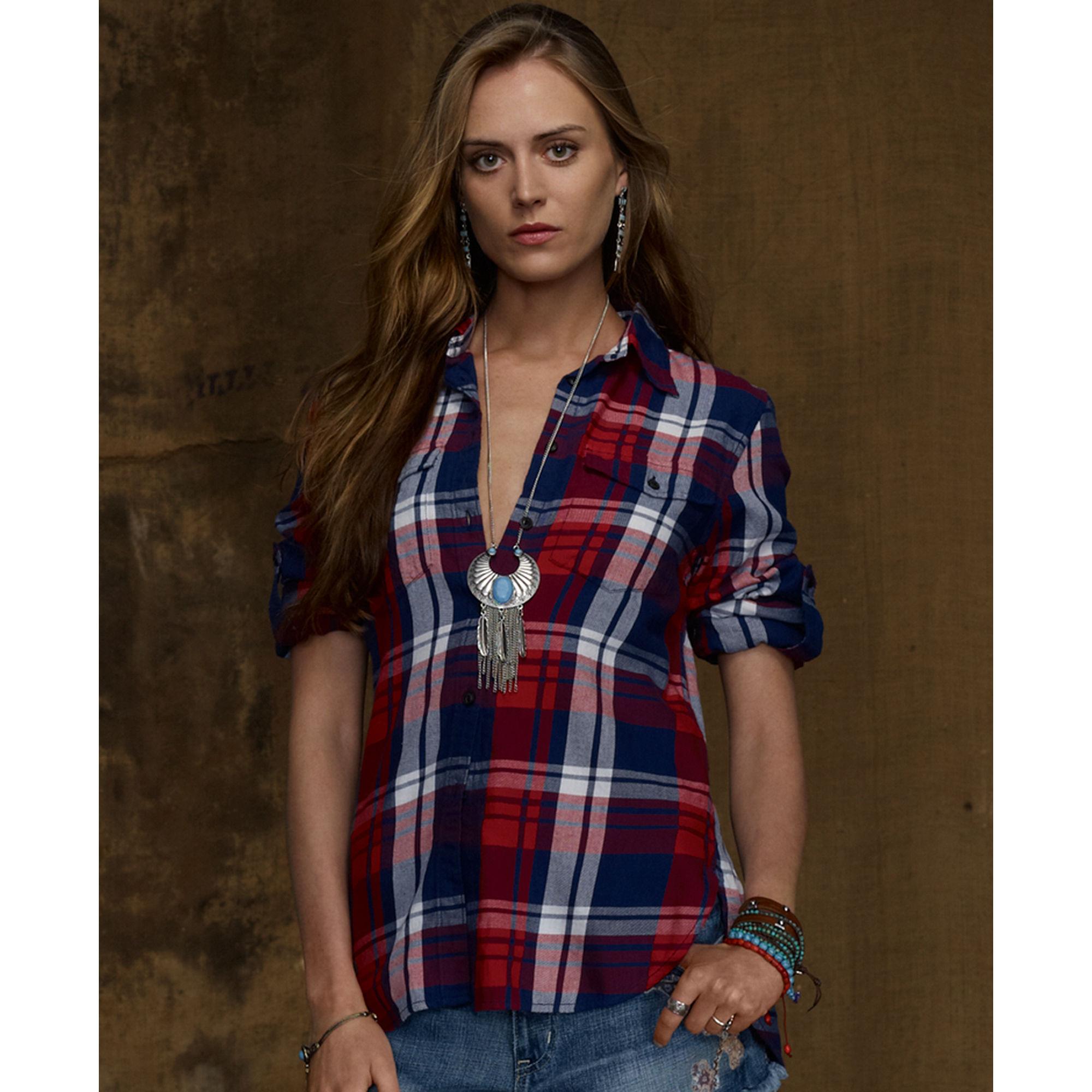 Ralph Lauren Womens Plaid Shirt