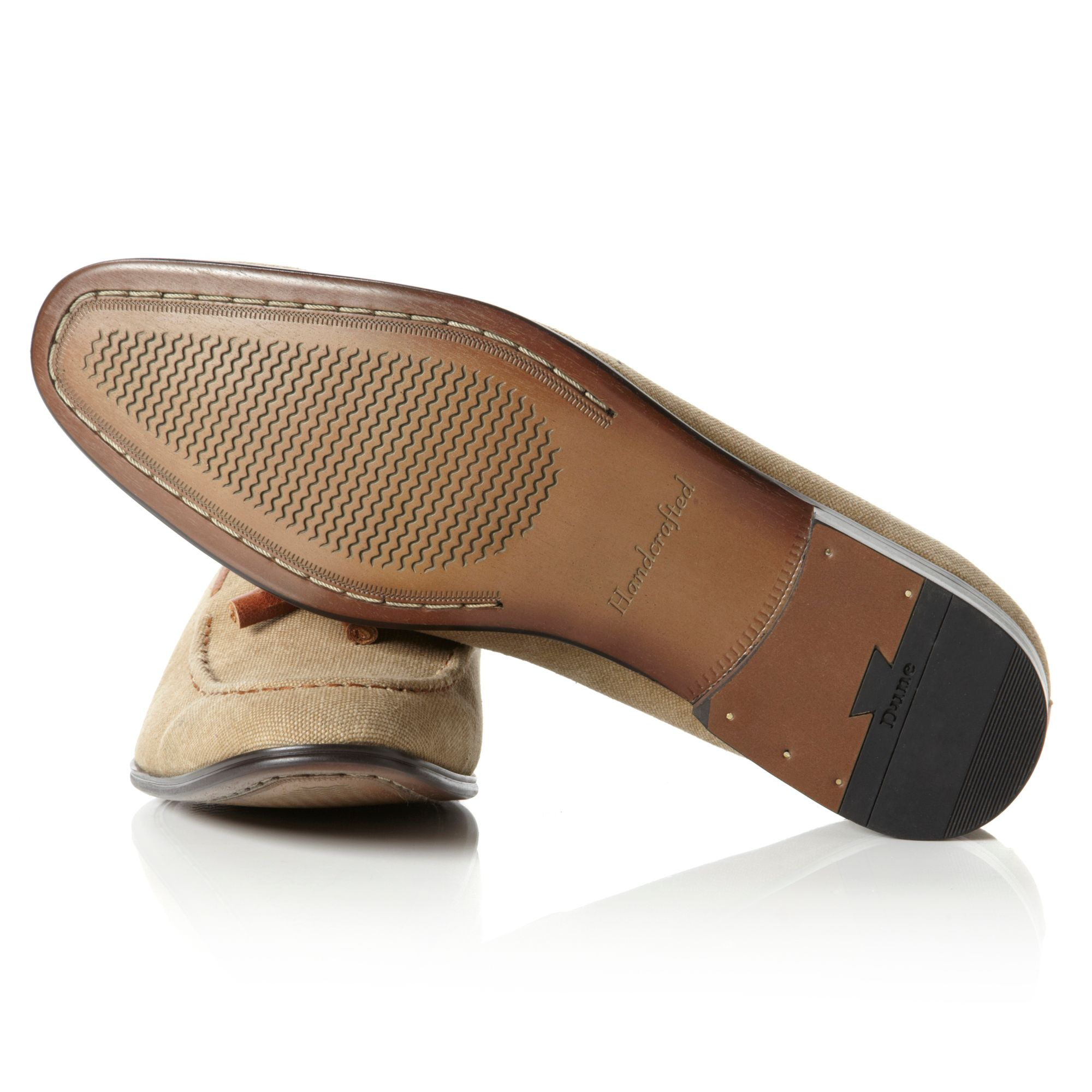 Dune Apparel Canvas Tassel Loafers in Beige (Natural) for Men