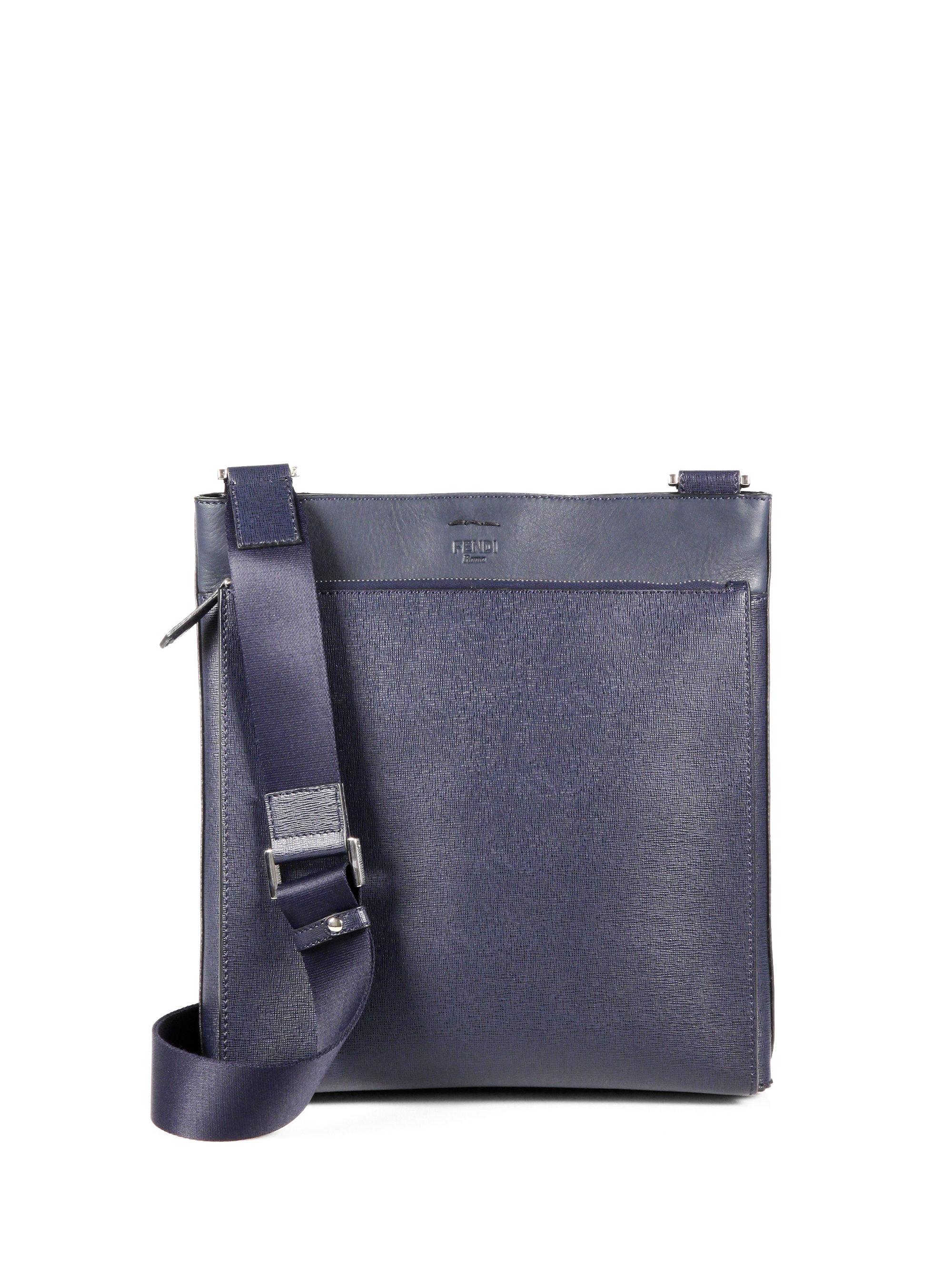 83cce3436d Lyst - Fendi Flat Crossbody Bag in Blue for Men