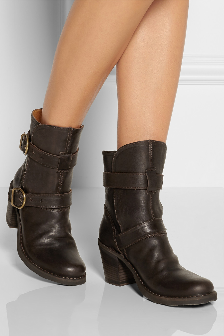 Fiorentini + baker Nena Leather Boots in Brown | Lyst