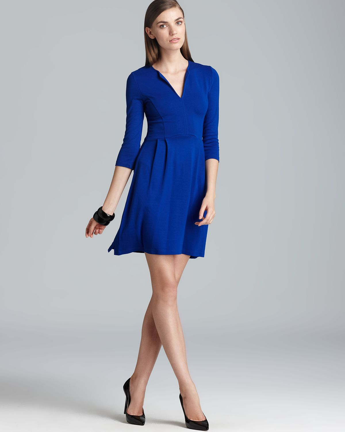 French connection Dress Classic Edie Jersey in Blue | Lyst
