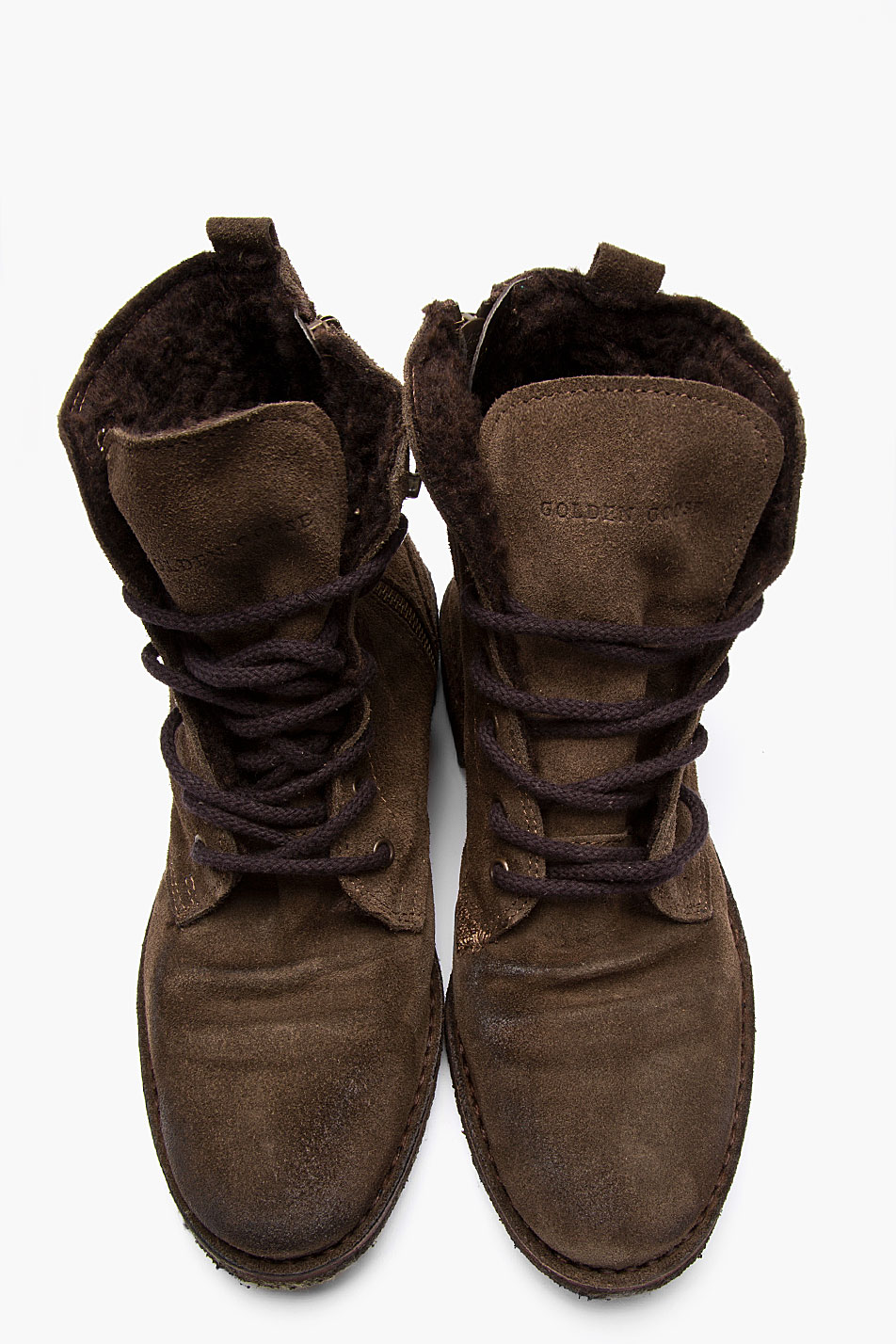 golden goose deluxe brand brown suede gramercy boots in